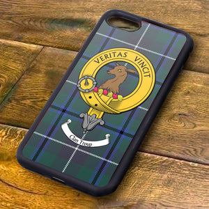 Troup Tartan and Clan Crest iPhone Rubber Case