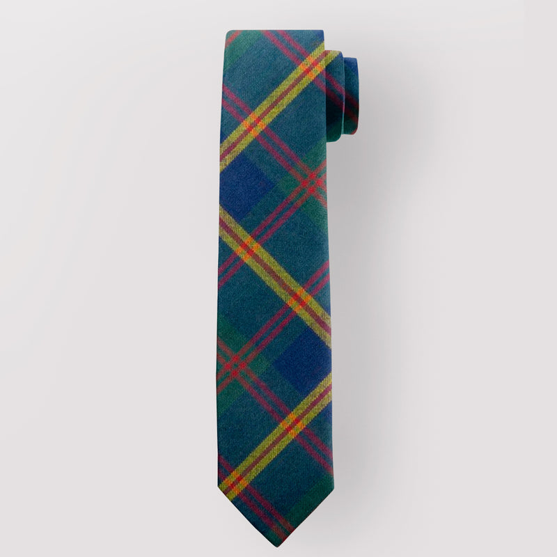 Pure Wool Tie in US Marines Leathernecks Tartan.