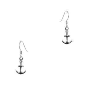 Outlander Inspired Anchor Silver Drop Earrings