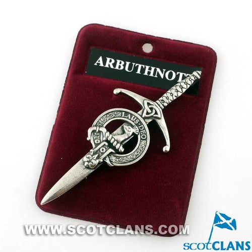 Clan Crest Pewter Kilt Pin with Arbuthnot Crest