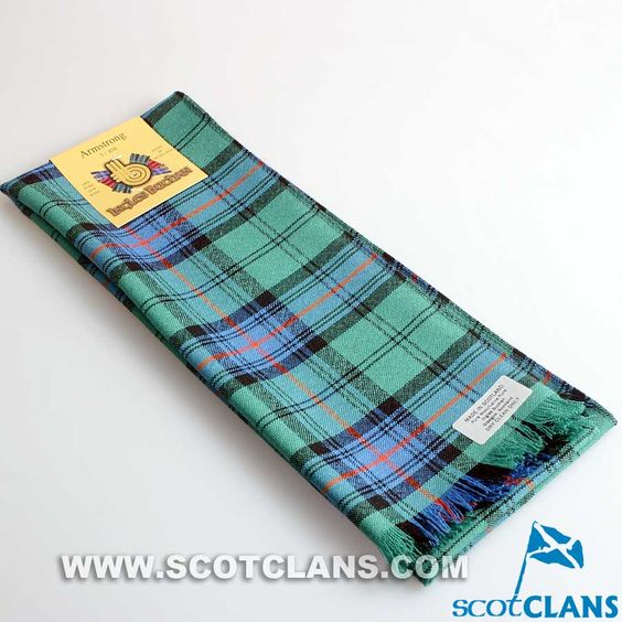 Wool Scarf in Armstrong Ancient Tartan