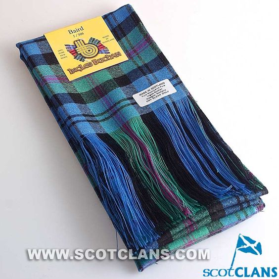 Wool Tartan Full Length Sash in Baird Ancient Tartan