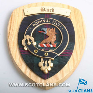 Baird Clan Crest Plaque