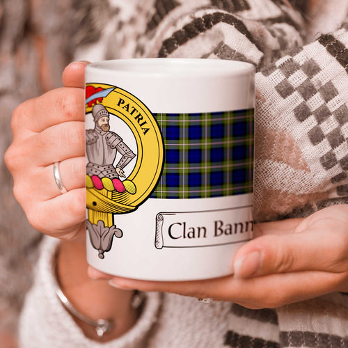 Bannerman Crest and Tartan Mug