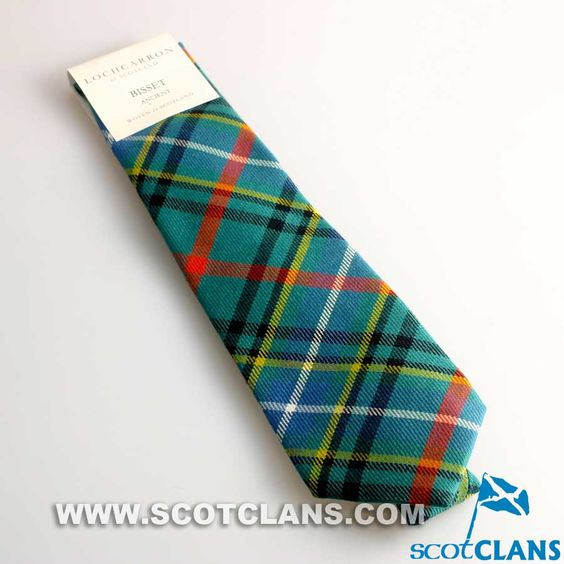 Pure Wool Tie in Bisset Ancient Tartan