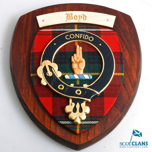 Boyd Clan Crest Plaque