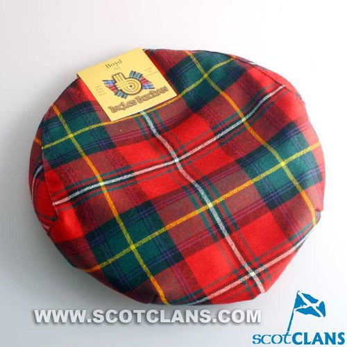 Pure Wool Golf Cap in Boyd Tartan