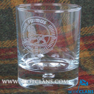 Clan Crest Whisky Glass with Bruce Crest