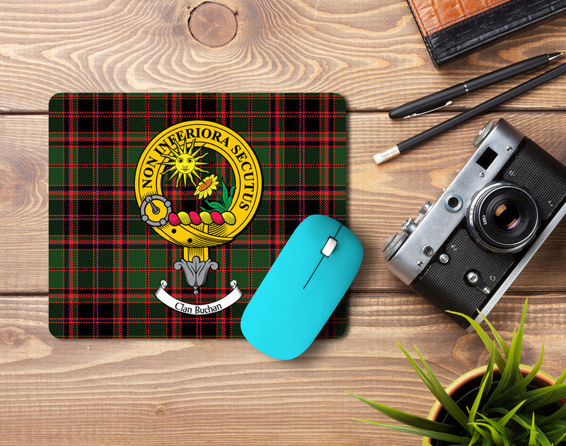 Buchan Clan Crest Mouse Pad