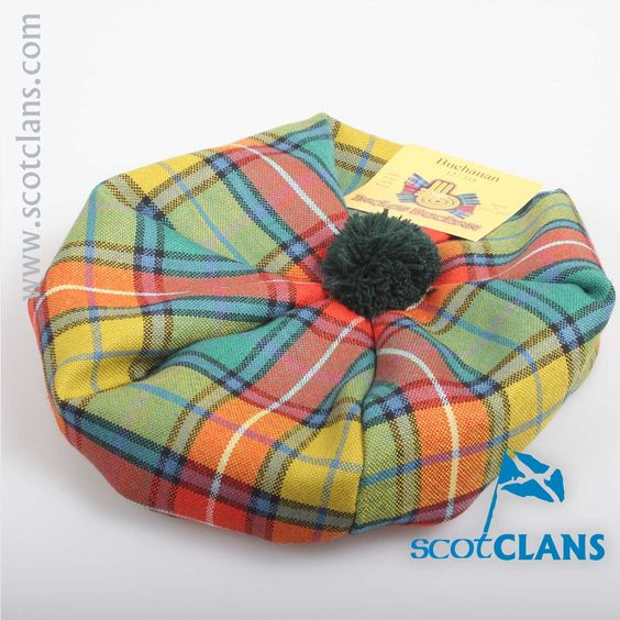 Unisex Wool Tam in Buchanan Ancient Tartan