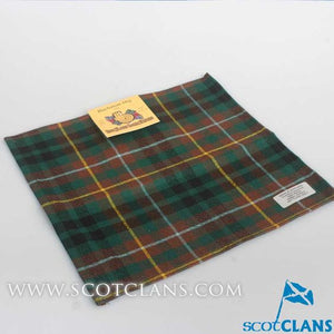 Wool Tartan Pocket Square in Buchanan Hunting Modern Tartan
