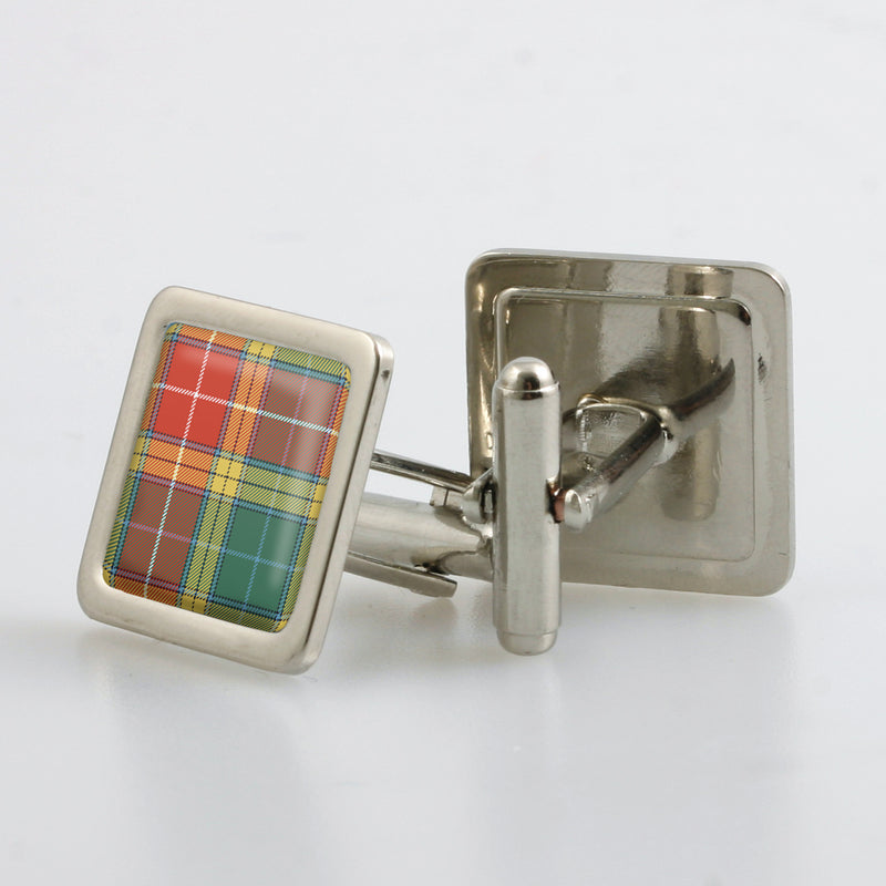 Buchanan Old Sett Tartan Cufflinks - Choose Your Shape