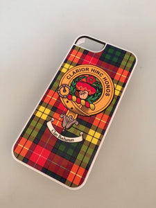 Buchanan Tartan and Clan Crest iPhone Rubber Case - 4 - 7