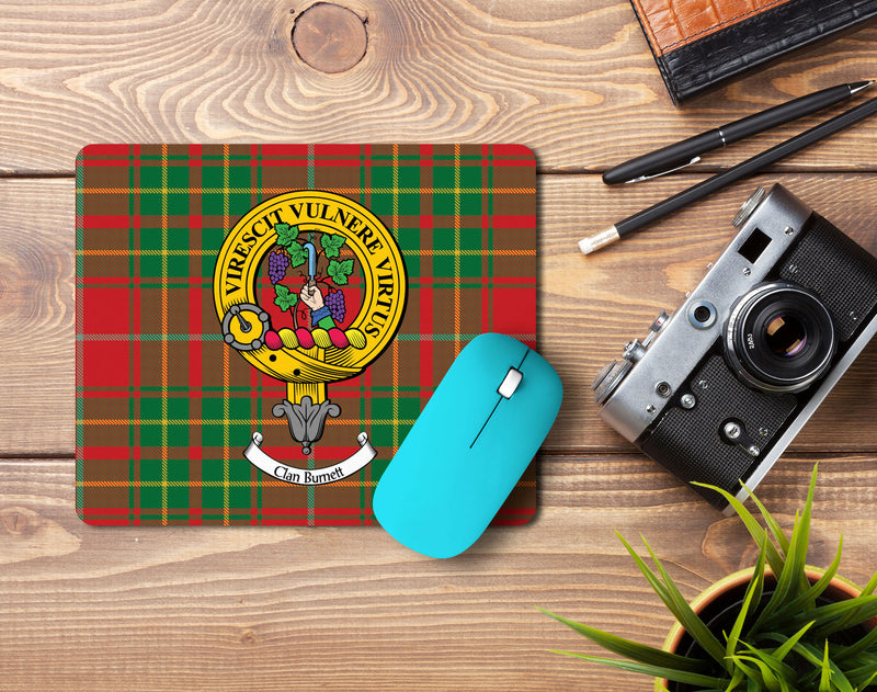 Burnett Clan Crest Mouse Pad