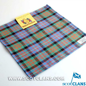 Wool Tartan Pocket Square in Cameron of Erracht Ancient Tartan