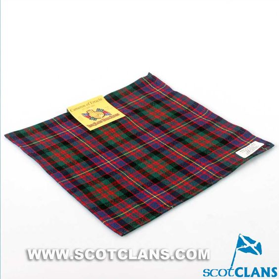 Wool Tartan Pocket Square in Cameron of Erracht Modern Tartan