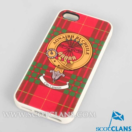 Cameron Tartan and Clan Crest iPhone Rubber Case - 4 - 7