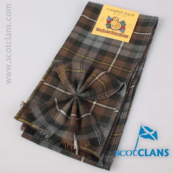 Wool Tartan Mini Sash in Campbell of Argyll Weathered Tartan