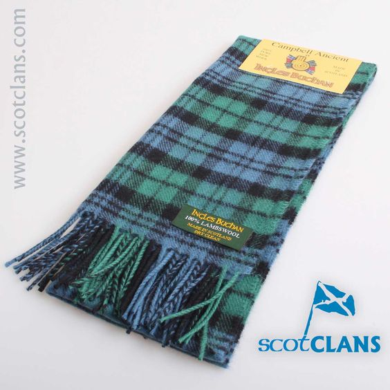 Lambswool Scarf in Campbell Ancient Tartan