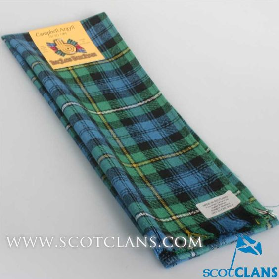 Wool Scarf in Campbell of Argyll Ancient Tartan