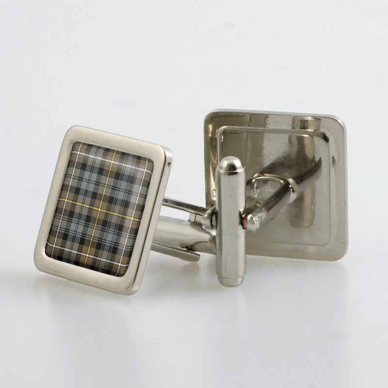 Campbell of Argyll Weathered Tartan Cufflinks - Choose Your Shape.