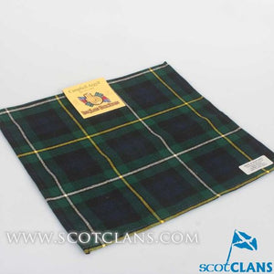 Wool Tartan Pocket Square in Campbell of Argyll Modern Tartan