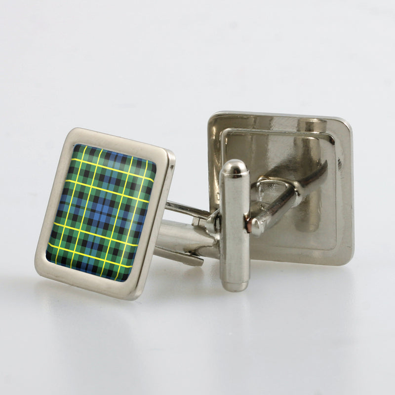 Campbell of Breadalbane Ancient Tartan Cufflinks - Choose Your Shape.