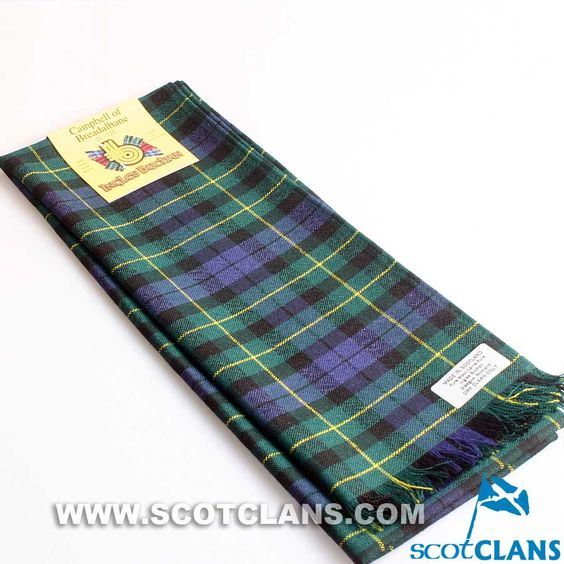 Wool Scarf in Campbell of Breadalbane Modern Tartan