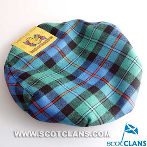 Pure Wool Golf Cap in Campbell of Cawdor Ancient Tartan