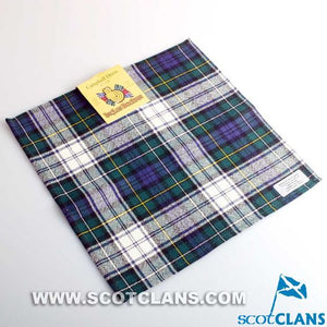 Wool Tartan Pocket Square in Campbell Dress Tartan
