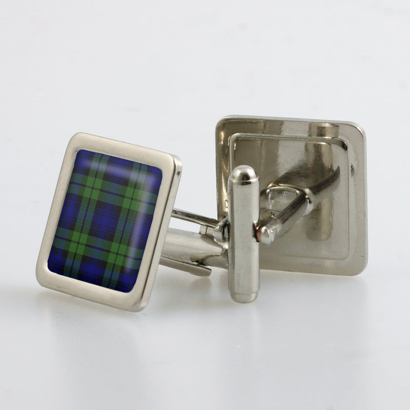 Campbell Modern Tartan Cufflinks - Choose Your Shape.