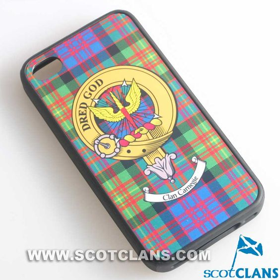 Carnegie Tartan and Clan Crest iPhone Rubber Case - 4 - 7