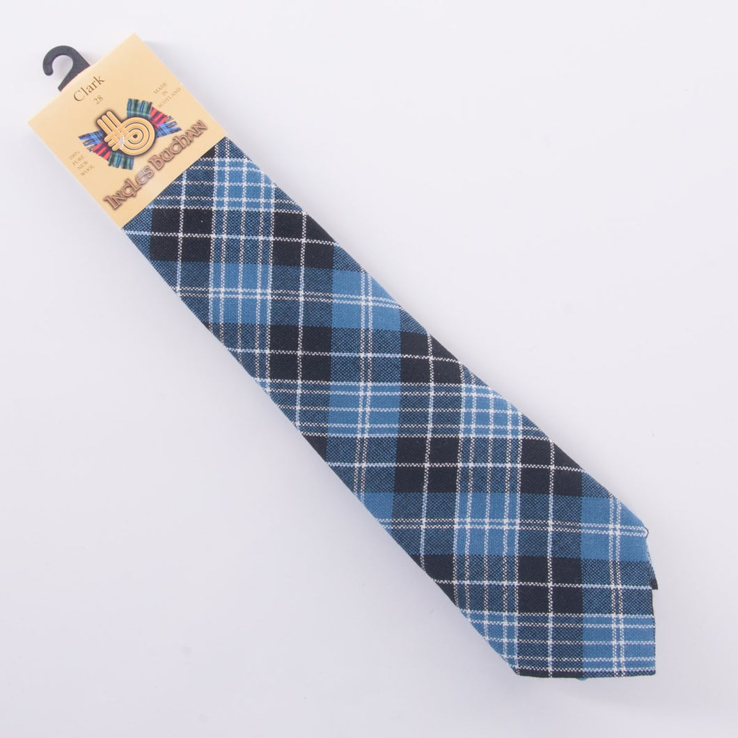 Pure Wool Tie in Clark Tartan