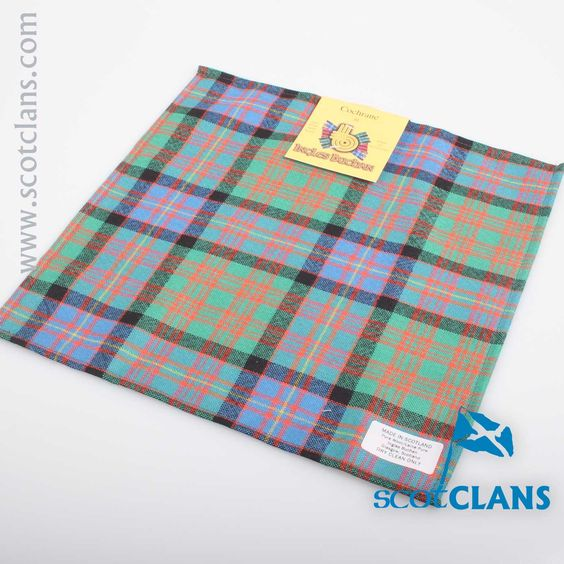 Wool Tartan Pocket Square in Cochrane Ancient Tartan