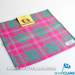 Wool Tartan Pocket Square in Crawford Ancient Tartan