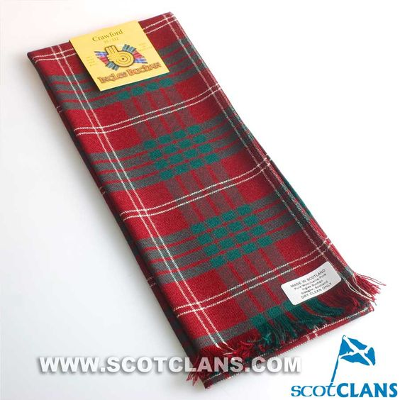 Wool Scarf in Crawford Modern Tartan