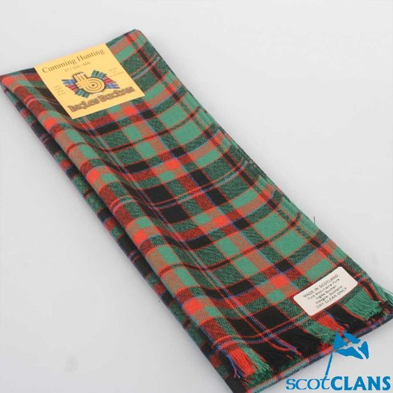 Wool Scarf in Cumming Hunting Ancient Tartan