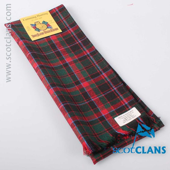 Wool Scarf in Cumming Hunting Modern Tartan