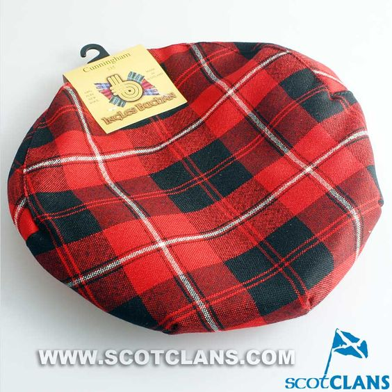 Pure Wool Golf Cap in Cunningham Modern Tartan