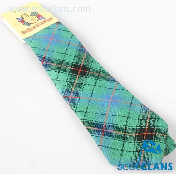 Pure Wool Tie in Davidson Ancient Tartan