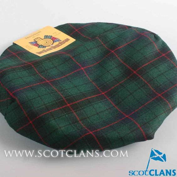 Pure Wool Golf Cap in Davidson Modern Tartan