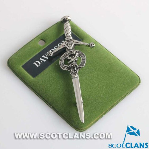 Clan Crest Pewter Kilt Pin with Davidson Crest