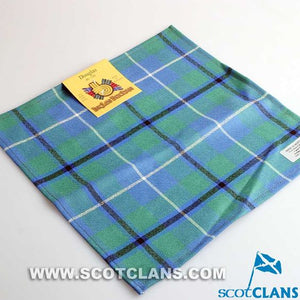 Wool Tartan Pocket Square in Douglas Ancient Tartan