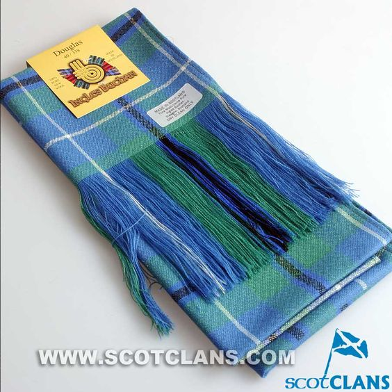 Wool Tartan Full Length Sash in Douglas Ancient Tartan