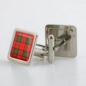 Dunbar Modern Tartan Cufflinks - Choose Your Shape.