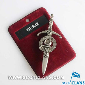 Clan Crest Pewter Kilt Pin with Durie Crest