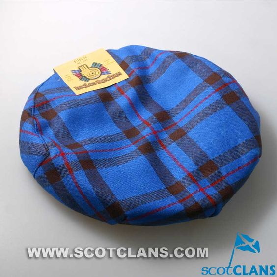 Pure Wool Golf Cap in Elliot Modern Tartan