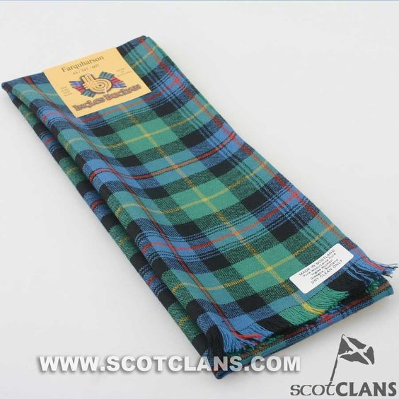 Wool Scarf in Farquharson Ancient Tartan