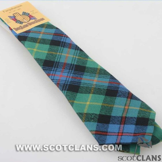 Pure Wool Tie in Farquharson Ancient Tartan