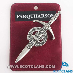 Clan Crest Pewter Kilt Pin with Farquharson Crest